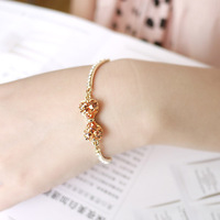 Bow crystal zircon bracelet female fashion accessories jewelry day gift free shipping g1306