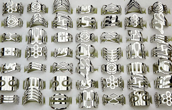 Fashion 50pcs Mix Style Adjustable Rings or Toe Rings Wholesale Jewelry Lots A-003
