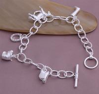 Hot sales!Wholesale!  925 Silver Bracelet  925 Silver Fashion Jewelry  Charm Horse Bracelet , Free Shipping YAB069