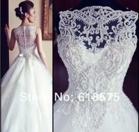 2013 Zuhair Murad custom made New sexy white elegant embroidery beadings organza ball gown wedding dress