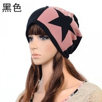 Free shipping (2 pieces/lot)  2013 spring and autumn five-pointed star hat casual male lovers cap general turban Unisex