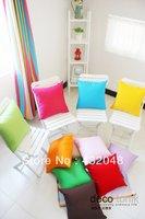 55cm Colorful candy color 100% solid color cotton canvas cushion pillow cover