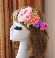 1030246 FLOWER GARLAND/ARTIFCIAL GARLAND/FAKE FLOWER/HAIR BRIDAL/GIRL GARLAND/THANKSGIVING DAYS WREATHS/WEDDING FLOWER WREATH