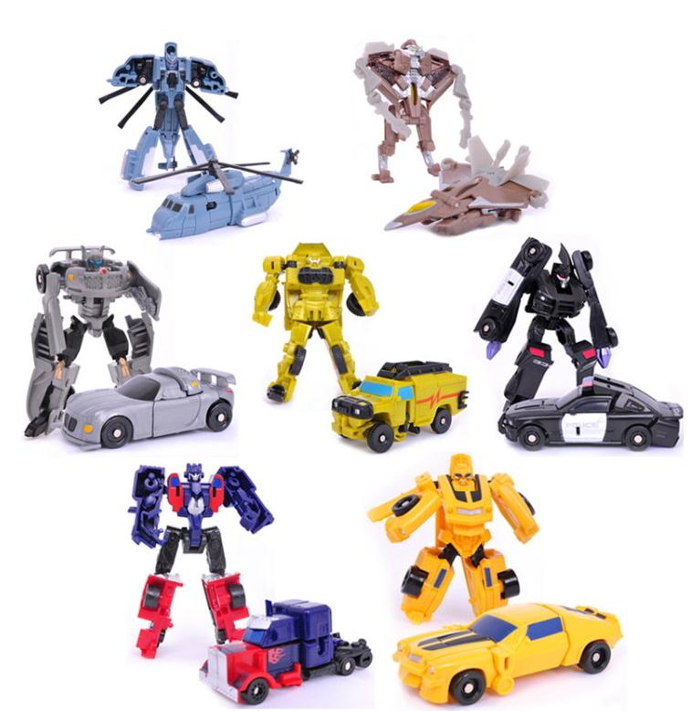 7pcs/lot Sideswipe Robot DIY educational car kit action figures avenger marvel boys toys set brinquedos model for the children(China (Mainland))