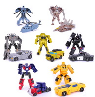 7pcs/lot  Sideswipe Robot  DIY educational car kit action figures avenger marvel boys toys set brinquedos model for the children