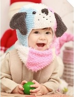 Free shipping winter children hats & scarf sets baby pocket beanie boy earflap girl skullcap retail  Lc13082907