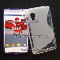 High Quality Black Soft TPU Gel S line Skin Cover Case For LG Optimus L4 II E440 Free Shipping FEDEX DHL EMS CPAM SGPAM