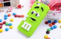 10pcs/lot, Rubber M&M Fragrance Chocolate Case for iphone 4 4s M Rainbow Beans case, Free Shipping