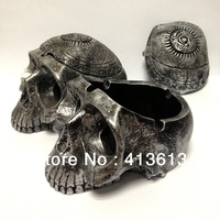 Evil restoring ancient ways Lovely Devil Bone Silver Skull Vintage style resin crafts Skeleton Skeleton Ashtray
