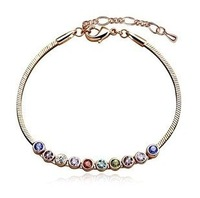 CB3 Fashion Full rhinestone  rose gold plating Austria Crystal Bracelet Anklet multi-color selected  wholesale B8.2