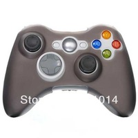 Free Shipping New GREY Silicone Protector Skin Case Cover for Xbox 360 Xbox360 Game Controller