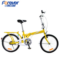 Folding bicycle 16 20 steelframe one piece stacking shelf adult kids bike qj288 single