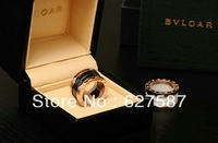 High Quality 2 Colors Ceramic European Style Rings18k Titanium Steel for Women and Men large rings size 10/9/8/6/5 Free Shipping