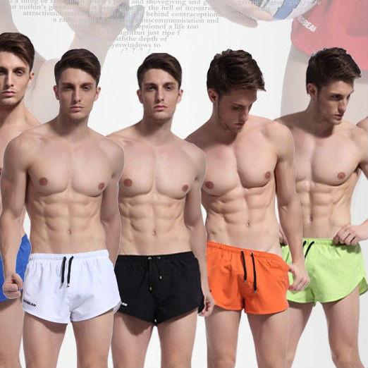 Mens Patchwork Pants ... Mens Running Short...