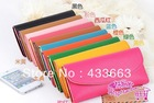 New Multifunctional Envelope women Candy colors Wallet CLUTH BAG  Purse Phone Case for brand phone 10 color(China (Mainland))