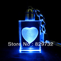 Free shipping unique gift Luminous crystal fashion jewery small gift keychain household goods girls gift