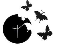 Free shipping Butterfly Wall Clock Design Art Modern Butterfly Clock for home 3D DIY Clock Creative Silent Clock Christmas Gift