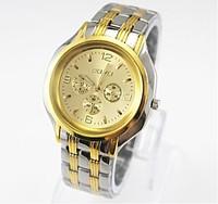 Fine imitation eye watches men steel band watches pointer quartz watches business men's watch