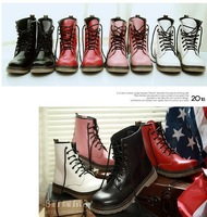 FREE SHIPPING! women Boots female spring and autumn 2014 fashion women's martin boots flat vintage buckle motorcycle boots,44