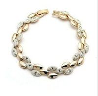CB27 Fashion Shiny  double color wheat Bracelet Bangle   Y549-1-13.5
