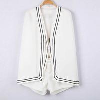 Elegant white suit vest mantissas cape shorts three pieces set
