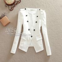 2013 women's autumn short suit outerwear fashion vintage epaulette double breasted slim female blazer
