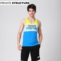 Privatestructure male 100% cotton slim sports fitness vest 1383