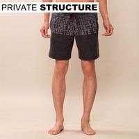 Privatestructure letter print 100% cotton sports shorts 1564