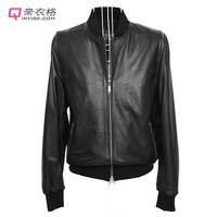 2013 spring and autumn male leather jacket outerwear men's clothing sheepskin Men genuine leather clothing