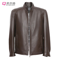 Genuine leather clothing male genuine leather sheepskin 2013 male cotton-padded coat leather jacket plus size