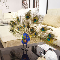 High artificial peacock feather decoration home ornaments christmas ornaments model