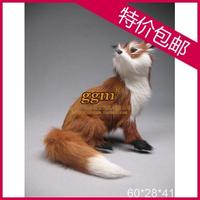 Plush fox fur decoration crafts derlook photography props model