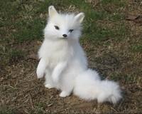 Artificial fox arctic fox real fur animal home animal fur gift