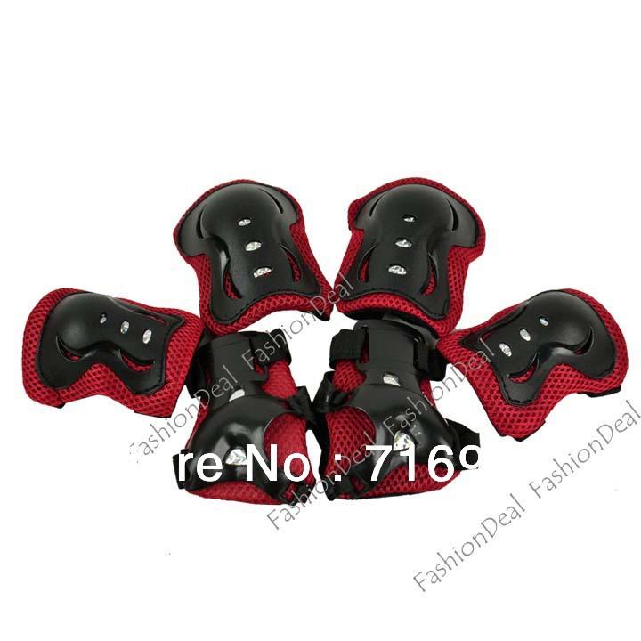 New Hot 6pcs/Set Knee Pad Elbow Protection Wrist Protective Guard Pad Kid Child Skating inline Gear Drop sHipping TK0942(China (Mainland))