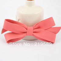 Hair accessory  leather bow hair clips
