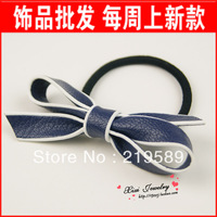 Accessories hair accessory leather bow hair ring rubber band tousheng a95