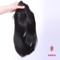 Free shipping wig machine-made toupee Human hair wig comfortable long