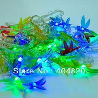 2014 fashion colorful dragonfly string LED lights for Christmas tree/ wedding /party 10M 220V EU plug