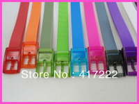 Free Shipping!3.5cm Width Candy Color Fashion Man&Women Unisex Silicone Belt Nonallergenic Jelly Neon Color Fragrant Casual Belt