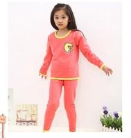 hot sale cheap Child thermal underwear set thickening plus velvet male female child autumn and winter underwear