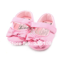 Children's Shoes Pink Girls Princess Shoes Bowknot Decoration Antiskid shoes First Walkers 18136