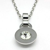 Free shipping Dyrberg kern crystal circle necklace all-match necklace dk necklace