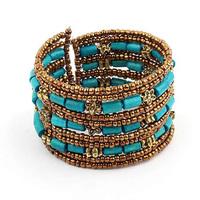 Min order is $10 multi-circle beads Women hand  fashion vintage bracelet