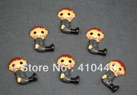 "50pcs  Lalaloopsy Sitting Sir Battlescarred  Resins Scrapbooking Embellishment  1""  Free shipping"
