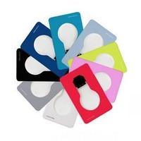 Wholesale free shipping Portable multicolour LED pocket lamp/lighting Folding led Wallet/purse Credit card light creative gift