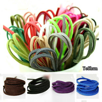 100pcs (17 Colors ) 2.7mmx1.5mm Multicolor Flat Faux Suede Velvet Leather Cord for Friendship Bracelet 1M/pcs Free Shipping