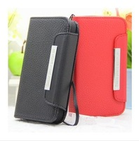 Leather PU Wallet Case For Huawei Honor 2 ET T45 T100 Star B94m B943 B92m B93m Feiteng n9300 Haipai i9377 S9300 T9300