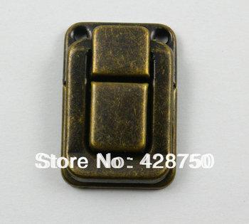 Antique Brass Jewelry Box Hasp Latch Lock 25x38mm with Screws