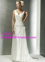 Fashion wedding dress train wedding dress shoulder strap quality wedding dress wedding gown wlf393