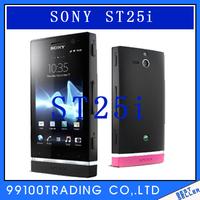 ST25i Original Unlocked Sony Xperia U ST25i cell phone Android GPS WIFI Camera 5MP Internal 4GB stoage Free Shipping Refurbished